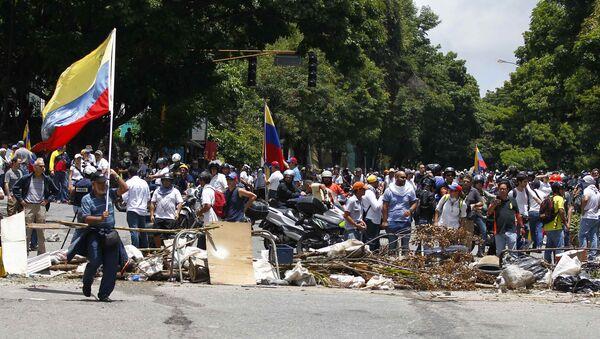 Сторонники оппозиции. Венесуэла. Архивное фото