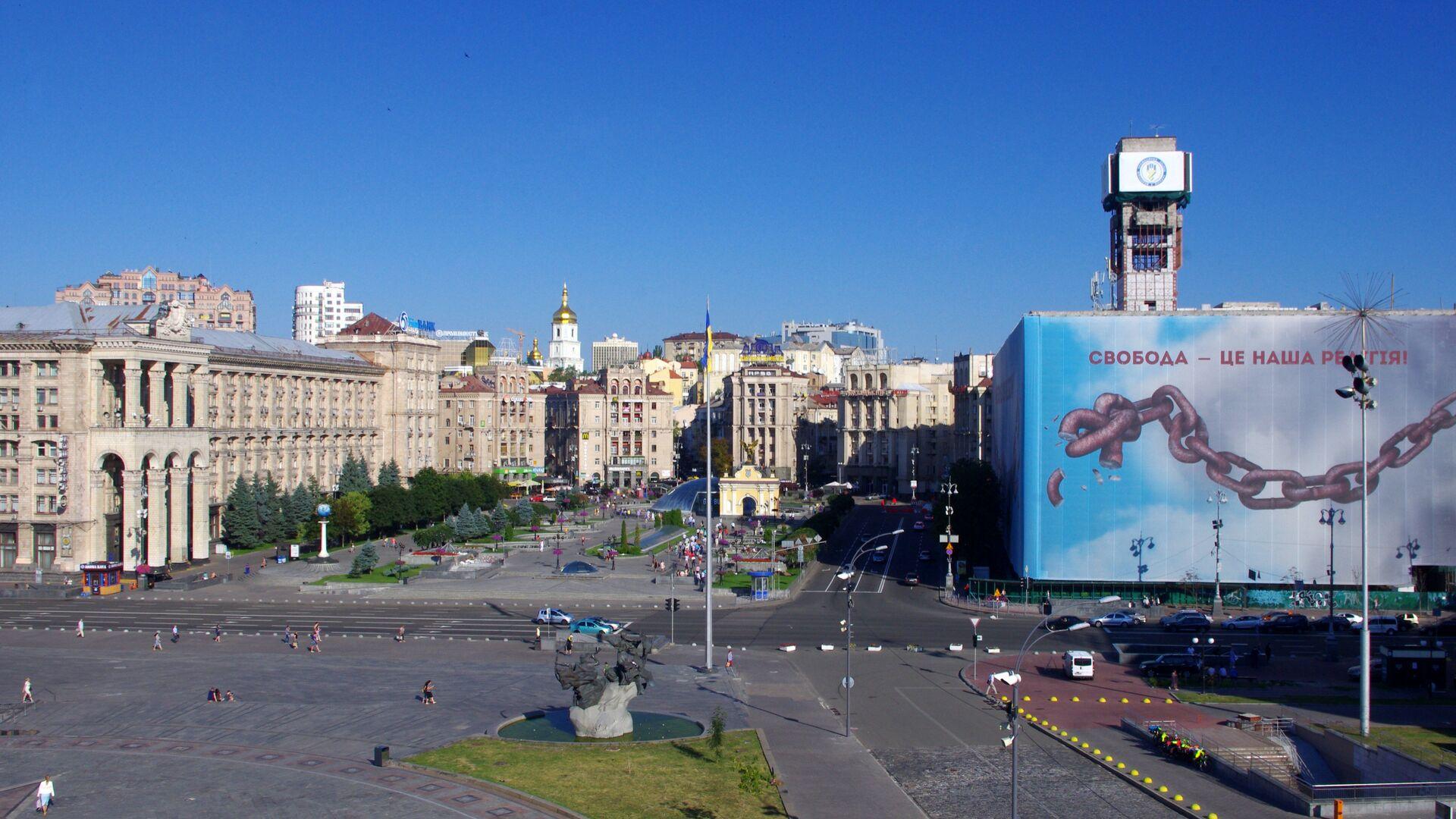 Вид на площадь Независимости в Киеве  - РИА Новости, 1920, 05.05.2021
