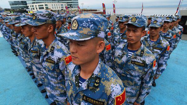 Военнослужащие КНР на церемонии открытия конкурса Морской десант. Архивное фото