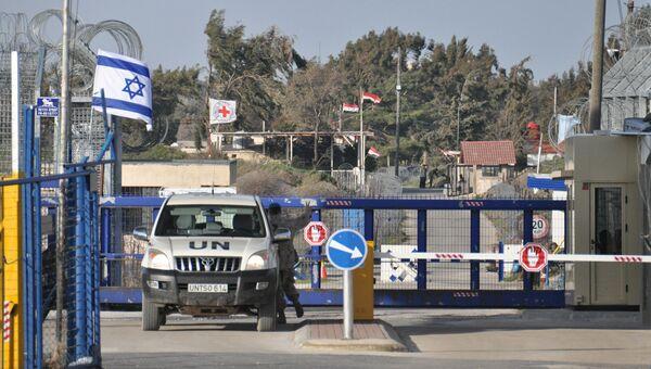 Пограничный пункт между Сирией и Израилем. Архивное фото