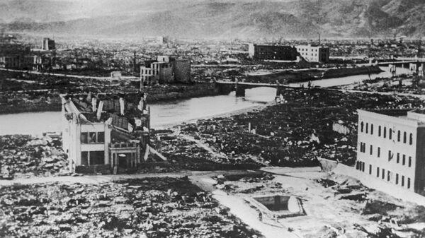 Хиросима после американской атомной бомбардировки