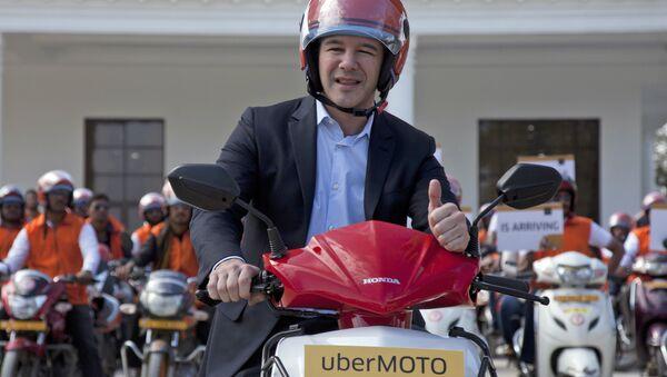 Трэвис Каланик в должности генерального директора Uber. Архивное фото