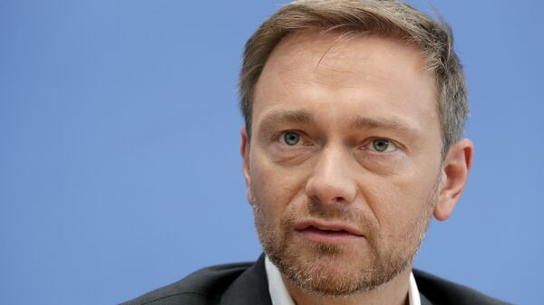 Лидер Свободной демократической партии Германии Кристиан Линднер