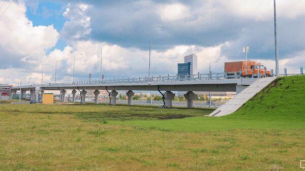 Эстакада съезда со Щелковского шоссе на Северо-Восточную хорду в сторону шоссе Энтузиастов