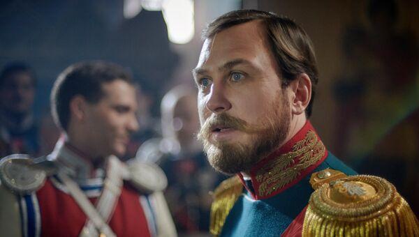 Актер Ларс Айдингер в роли Николая II во время съемокфильма Алексея Учителя Матильда