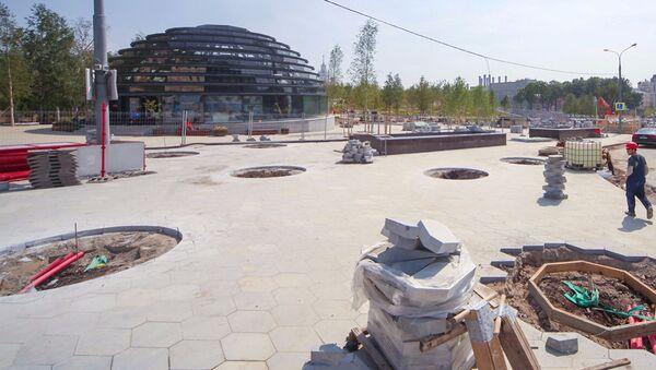Реконструкция парка Зарядье. 11 августа 2017