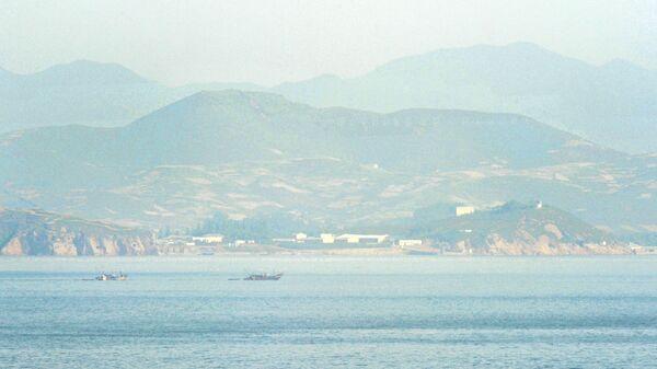 Пограничный район Северной и Южной Кореи в водах Желтого моря