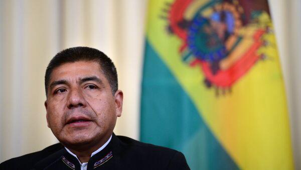 Глава МИД Боливии Фернандо Уанакуни Мамани на пресс-конференции по итогам переговоров с министром иностранных дел РФ Сергеем Лавровым. 16 августа 2017