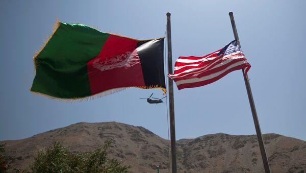 Американский военный вертолет в афганской провинции Панджшир