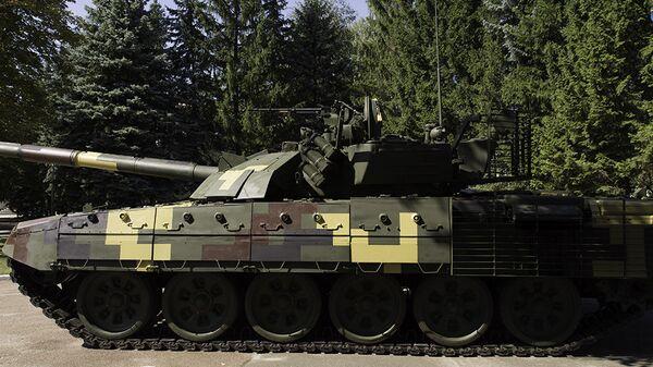 Модернизация основного боевого танка Т-72А до вида Т-72АМТ, представленная Киевским бронетанковым заводом