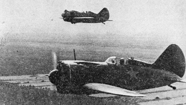 Советские летчики на И-16, добровольно участвовавшие в национально-освободительной борьбы китайского народа против японских захватчиков (1937-1945). 1938 год