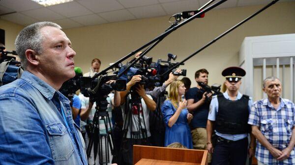 Отец погибшего Алеши Шимко Роман во время предварительных слушаний по делу Ольги Алисовой в Железнодорожном суде. 21 августа 2017