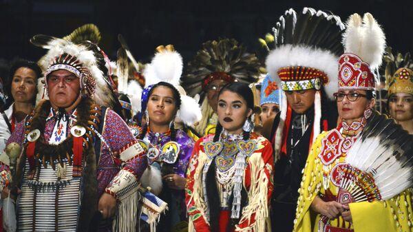Фольклорный фестиваль индейцев Gathering of Nations в Альбукерке. 28 апреля 2017
