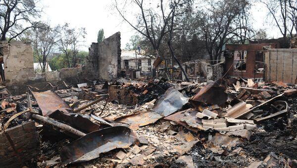Последствия пожара в Ростове-на-Дону. 22 августа 2017
