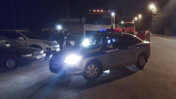Задержанние водителя грузовика, сбившего двоих пешеходов в Тверском районе столицы. 30 августа 2017