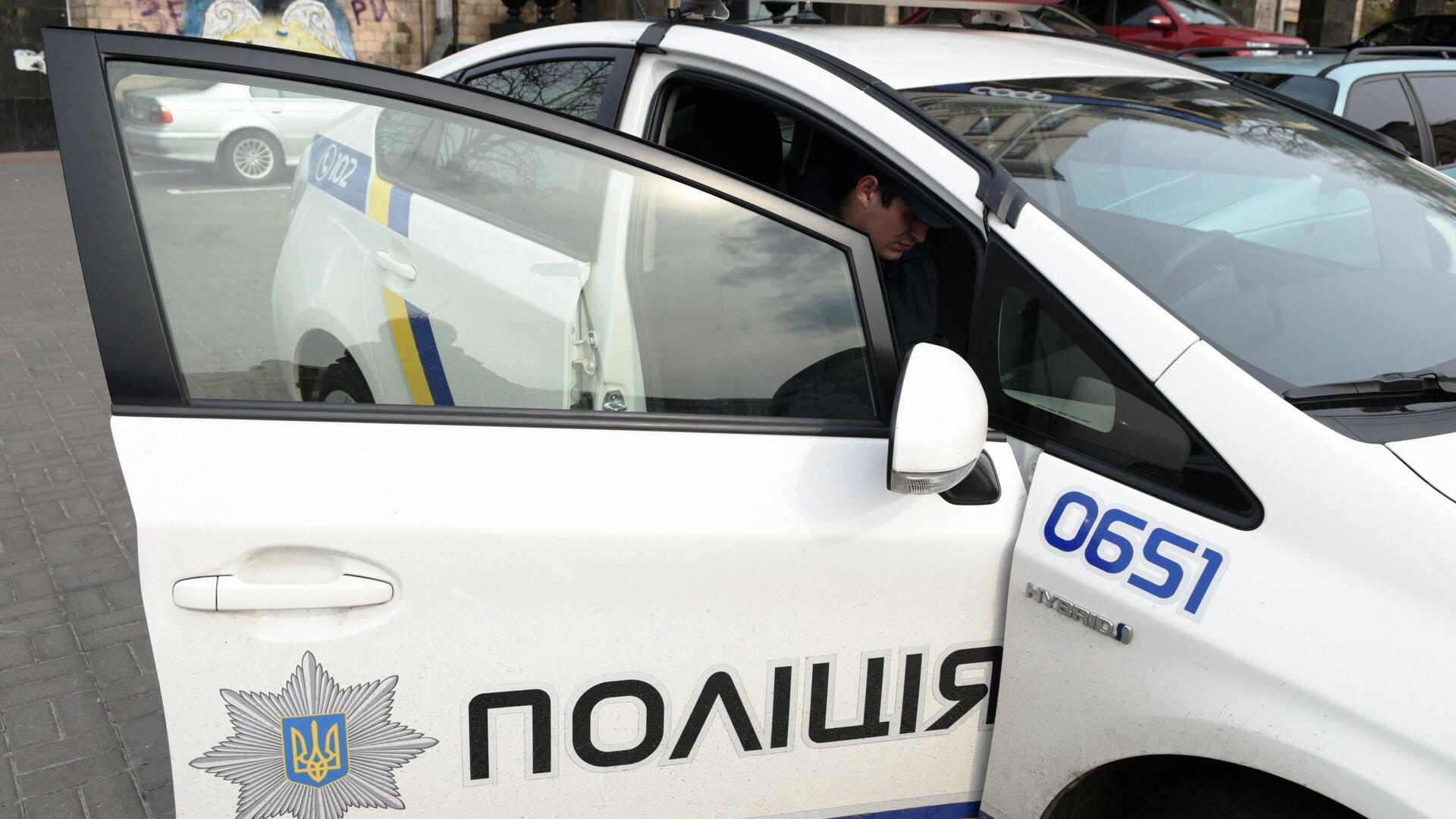 Автомобиль полиции в Киеве - РИА Новости, 1920, 01.08.2021