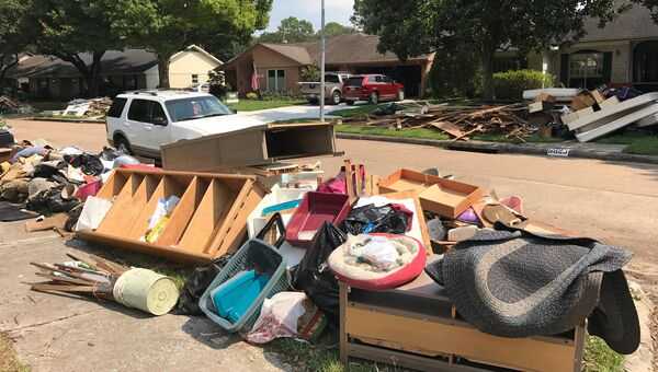 Ситуация в Хьюстоне после урагана Харви, штат Техас, США. 2 сентября 2017