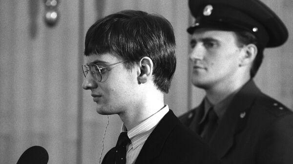 Суд над западногерманским пилотом Матиасом Рустом, нарушившим 28 мая 1987 года воздушное пространство СССР и приземлившимся на своем самолете на Красной площади