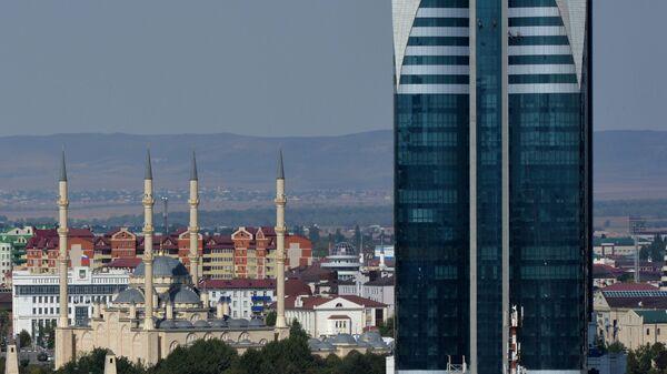 Вид на центр Грозного. Архивное фото