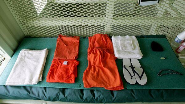 Одежда заключенных в тюрьме Гуантанамо, Куба. Архивное фото