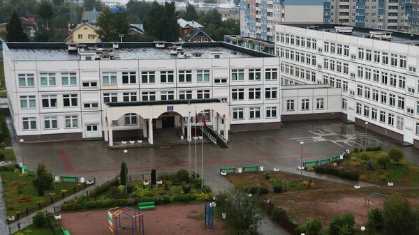 Здание школы №1 в Ивантеевке Московской области, где подросток открыл стрельбу