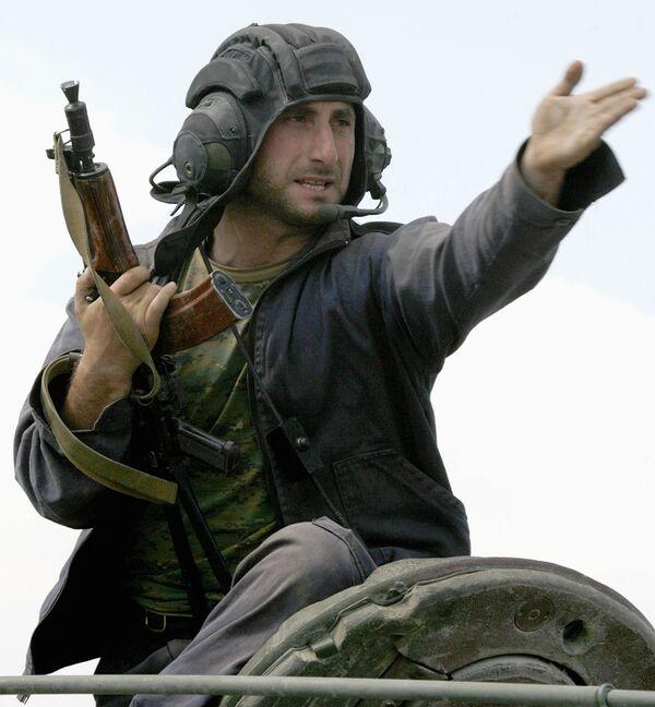 Грузинские солдаты в Южной Осетии
