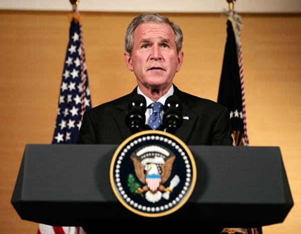Джордж Буш выступил с заявлением в Пекине об обстановке в Грузии