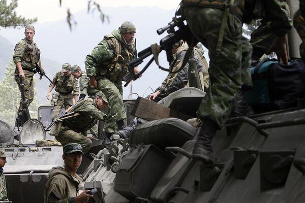 Российские солдаты в Южной Осетии