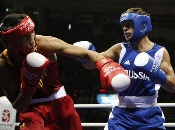 Российский боксер Геннадий Ковалев на Олимпийских Играх в Пекине