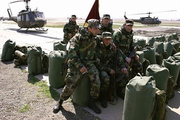 Грузинские военнослужащие