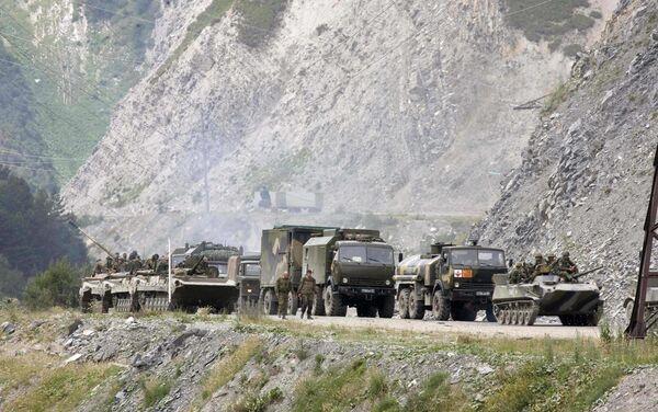 Российские войска на границе между Северной и Южной Исетией