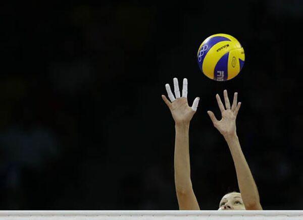 Матч по волейболу между сборными России и Казахстана на Олимпийских Играх