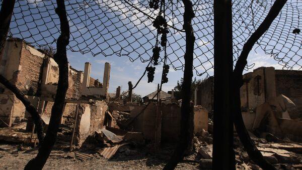 В городе Цхинвали, подвергшемся нападению грузинских войск