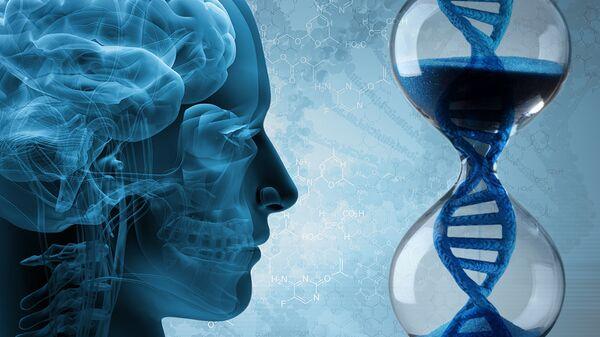 Так художник представил себе генетическую программу, управляющую старением мозга