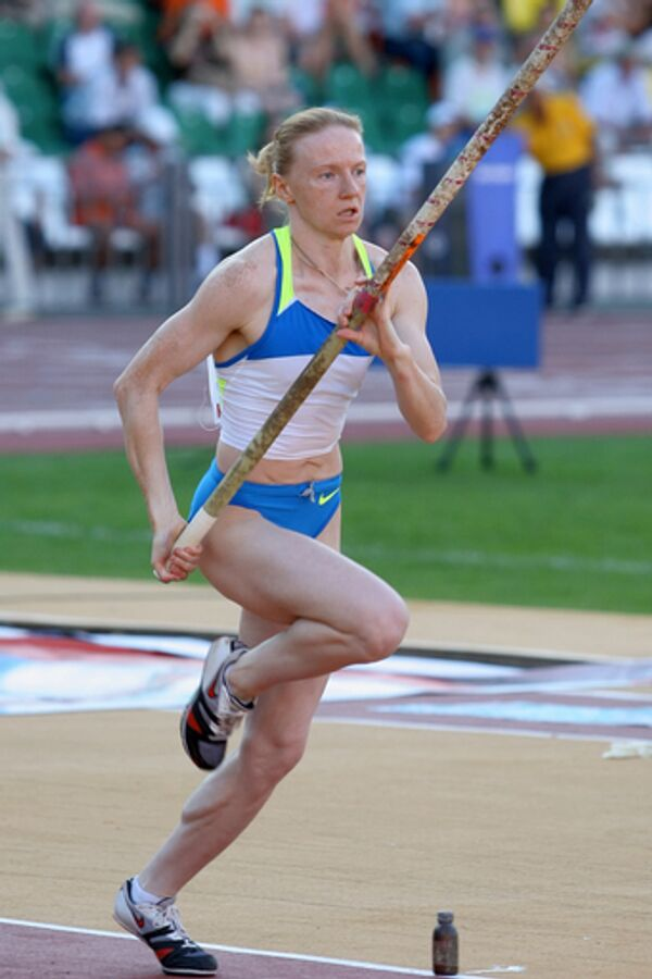 Бронзовый призер Олимпиады в Пекине в прыжках с шестом Светлана Феофанова