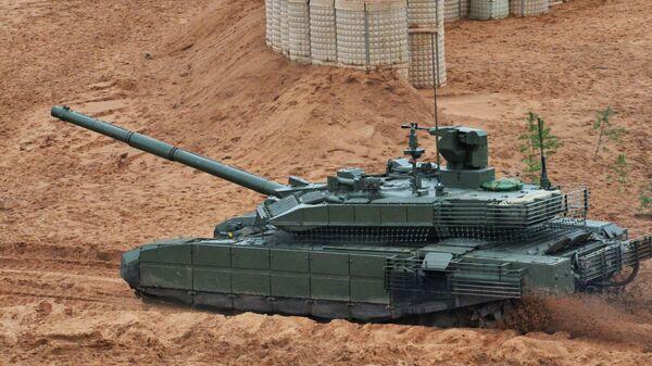 Танк Т-90М на учениях Запад-2017 в Ленинградской области