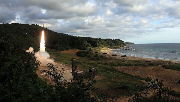 Пуск баллистической ракеты Хёнму-2 Южной Кореей. 15 сентября 2017