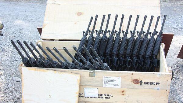 Американские штурмовые винтовки М-4, оставленные грузинской армией