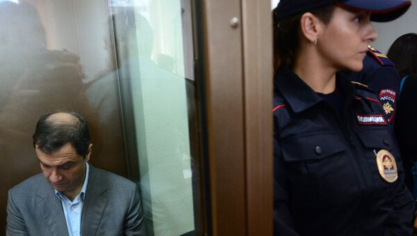 Бывший заместитель министра культуры РФ Григорий Пирумов на заседании Дорогомиловского суда Москвы. 21 сентября 2017