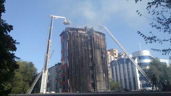 Сгоревшее здание в Ростове-на-Дону. 21 сентября 2017