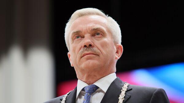 Избранный губернатор Белгородской области Евгений Савченко во время инаугурации в Белгороде. 21 сентября 2017