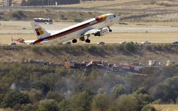 В аэропрту Мадрида, где произошла авиакатастрофа