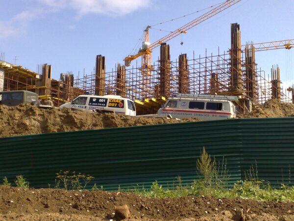 Обрушение строящегося здания в Новосибирске