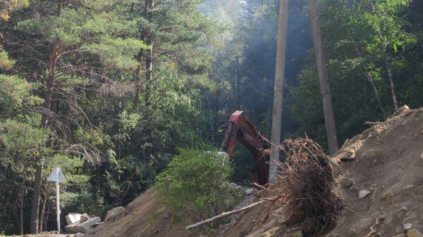 Последствия схода селя в Эльбрусском районе Кабардино-Балкарии