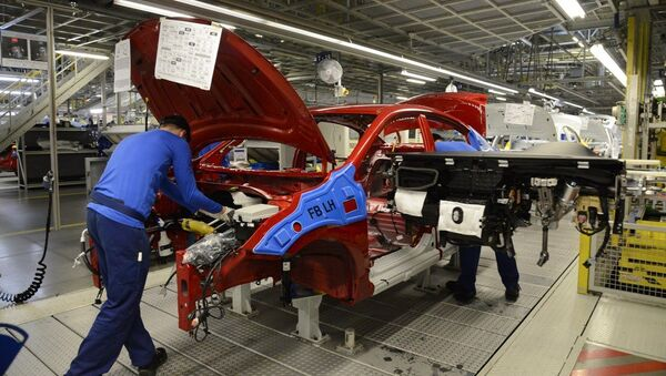 Производство Kia Rio на заводе Hyundai Motor Manufacturing Rus. Архивное фото