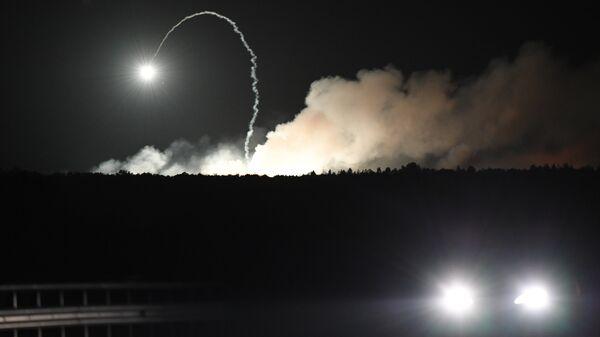Пожар на военной базе в городе Калиновка в Винницкой области. 27 сентября 2017. Архивное фото