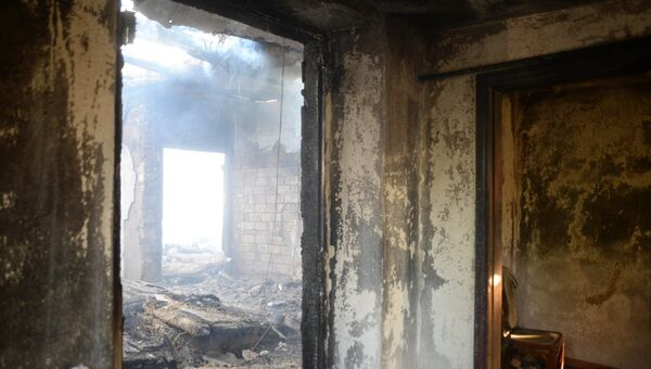 Дом в селе Павловка, разрушенный в результате пожара на складе с боеприпасами в Винницкой области Украины. Архивное фото