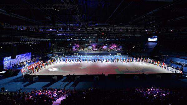 Дворец спорта Татнефть Арена в Казани во время открытия чемпионата Европы по дзюдо 2016.