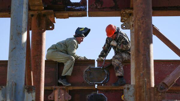 Сварочные работы на строительстве обхода Краснодарского узла Северо-кавказской железной дороги