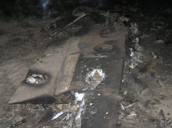 На месте авиакатастрофы. Архив